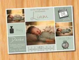 Ausgefallene Babykarten cute Baby Danksagungskarten Geburt 433 - Bild vergrößern