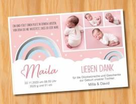 Ausgefallene Baby cute  Danksagungskarten Danksagungen Geburt 497 - Bild vergrößern
