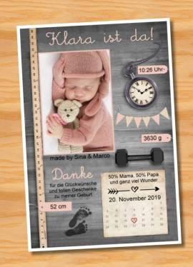 Ausgefallene Babykarten cute Baby Danksagungskarten Geburt 427 - Bild vergrößern