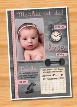 Ausgefallene Babykarten cute Baby Danksagungskarten Geburt 430 - Bild vergrößern