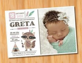 Ausgefallene Baby cute  Danksagungskarten Danksagungen Geburt 492 - Bild vergrößern