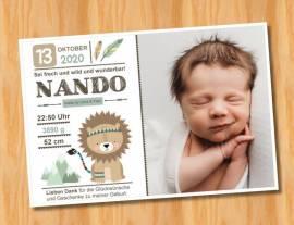 Ausgefallene Baby cute  Danksagungskarten Danksagungen Geburt 491 - Bild vergrößern