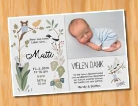 Ausgefallene Baby cute  Danksagungskarten Danksagungen Geburt 495 - Bild vergrößern