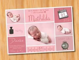 Ausgefallene Baby cute  Danksagungskarten Danksagungen Geburt 505 - Bild vergrößern