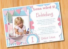 Kindergeburtstag Einladung MUSTER 9  - Bild vergrößern