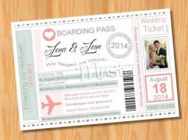 Einladungskarten Einladungen Hochzeit MUSTER 13 - Bild vergrößern