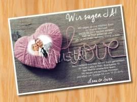 Einladungskarten Einladungen Hochzeit MUSTER 26 - Bild vergrößern