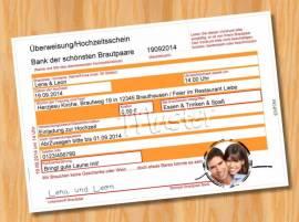 Einladungskarten Einladungen Hochzeit MUSTER 20 - Bild vergrößern