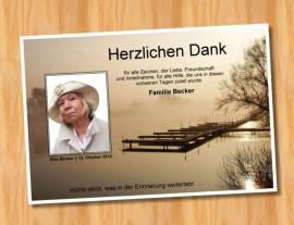 Sterbekarte Trauerkarten Danksagung 13 - Bild vergrößern