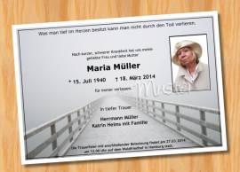 TrauerkartenEinladung MUSTER 1  - Bild vergrößern
