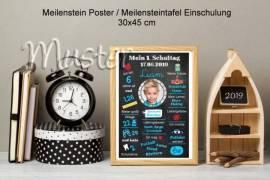Meilenstein Poster Einschulung Meilensteintafel Geschenk 10 - Bild vergrößern