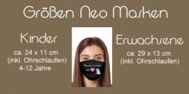 Hochzeit Masken Maske Mundbedeckung Brautpaar Gäste 15 - Bild vergrößern