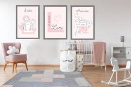 Wandbilder Poster 3er Set Kinderzimmer Design 4 - Bild vergrößern