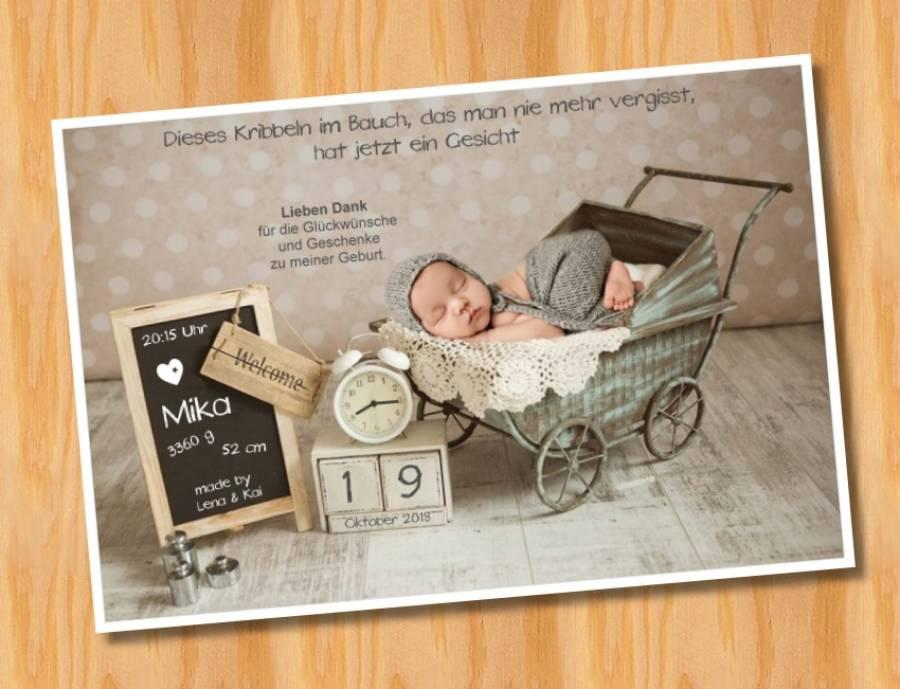 Babykarten.Ausgefallene Babykarten Dankeskarten Geburt 278