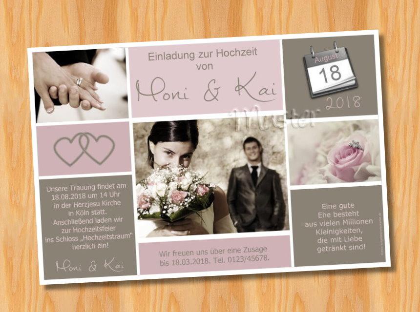 Einladung Hochzeit Foto | Einladungskarten Hochzeit
